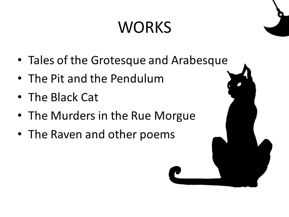 """THE RAVEN 1845 Narrative poem In ich – form Author´s room, midnight, asks raven and raven replies """"nevermore 108 verses Rhythm and sound"""