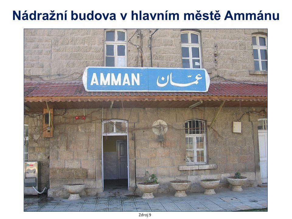 Nádražní budova v hlavním městě Ammánu Zdroj 9