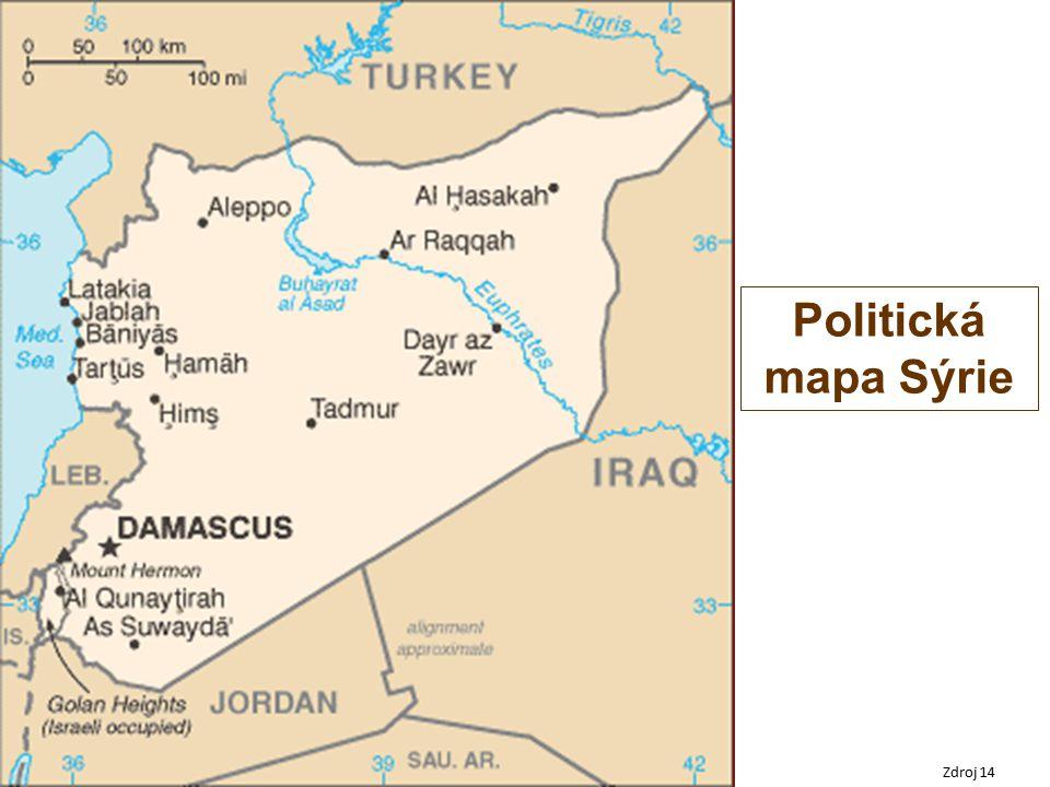 Zdroj 14 Politická mapa Sýrie