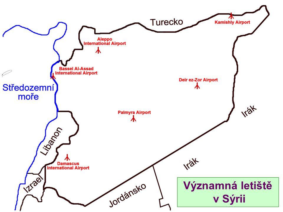 Významná letiště v Sýrii