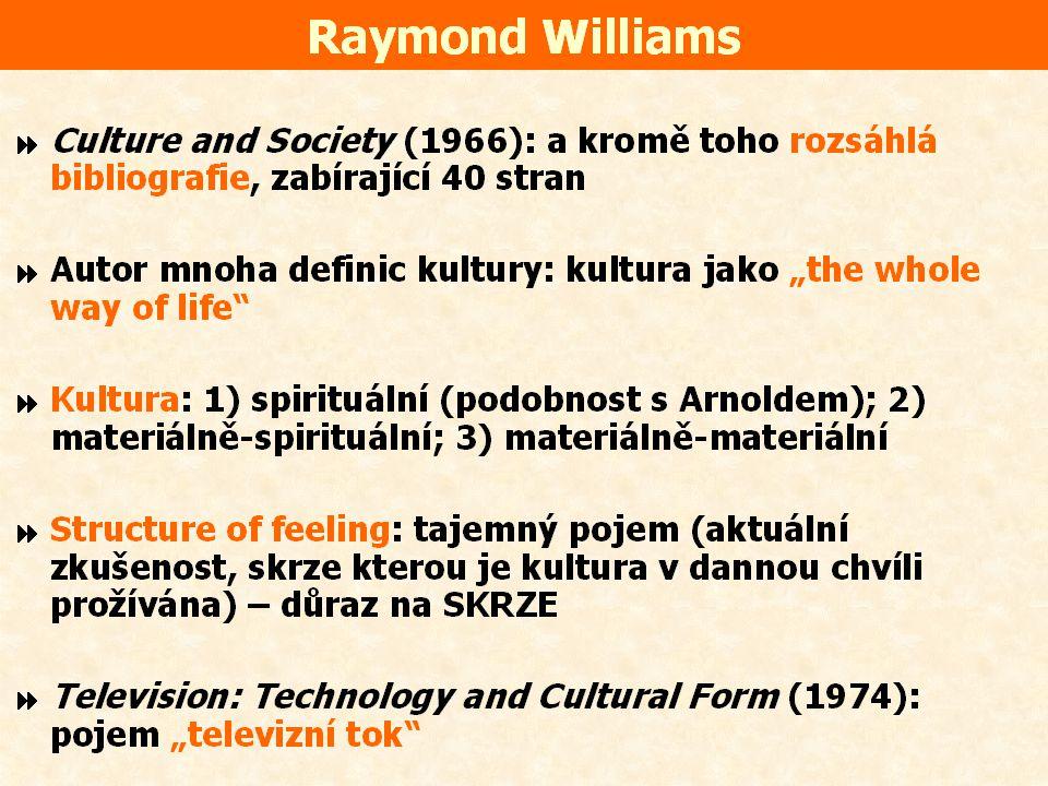 Přímí předchůdci kulturálních studií  Období 1946 – 1964.