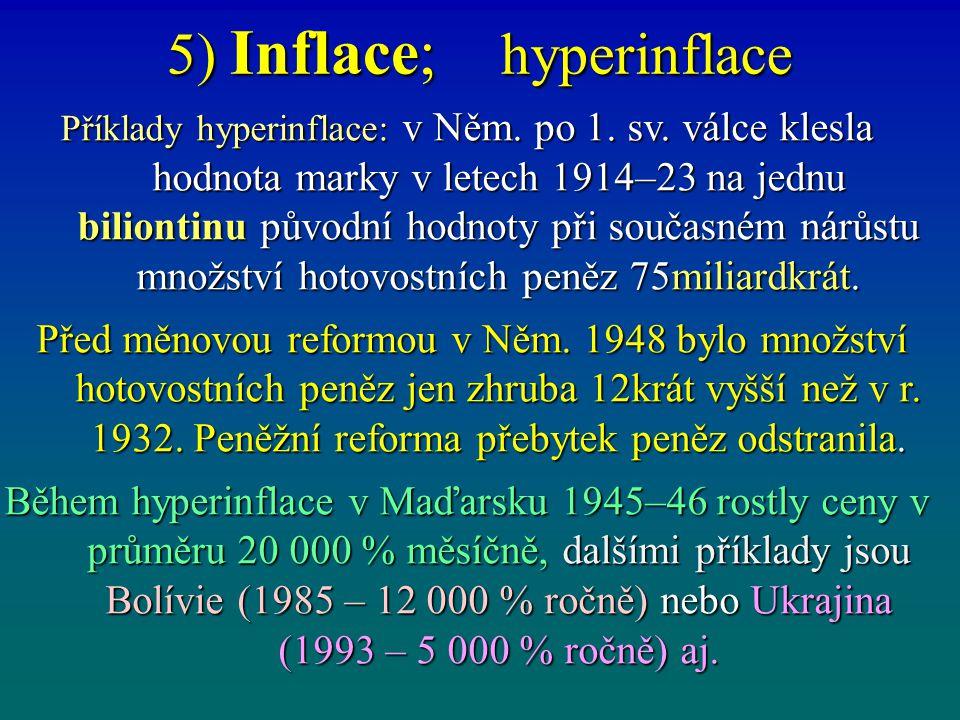 5) Inflace; stagflace, přehřátí Stagflace [z lat.