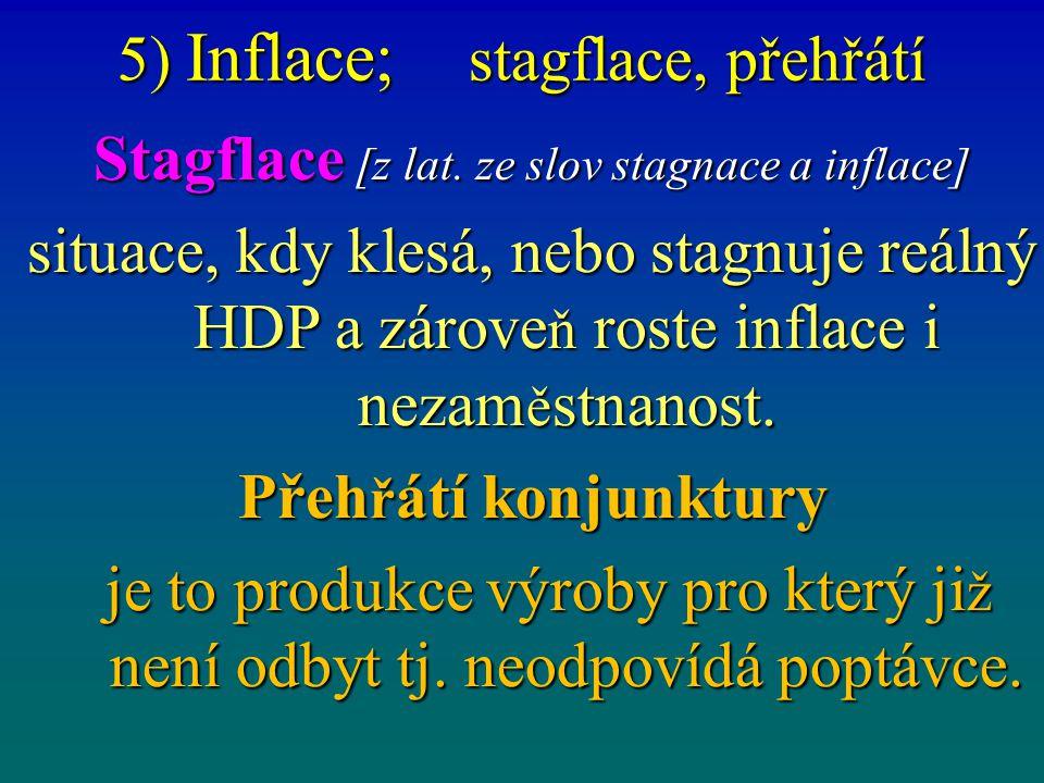 5) Inflace; Účel K čemu se míra inflace používá.