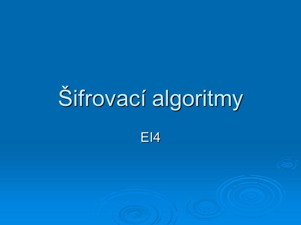 Šifrovací algoritmy EI4