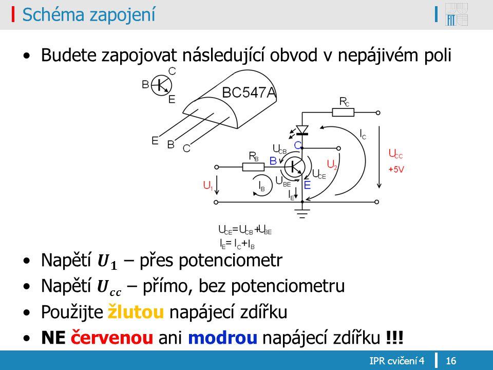 Schéma zapojení IPR cvičení 416