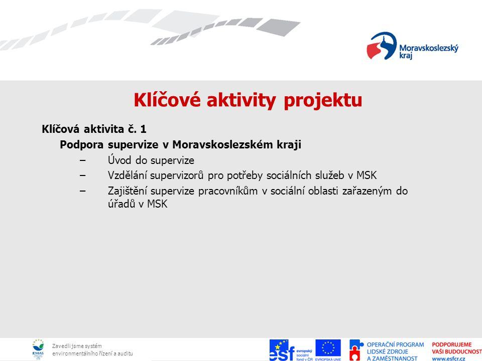 Zavedli jsme systém environmentálního řízení a auditu Klíčové aktivity projektu Klíčová aktivita č. 1 Podpora supervize v Moravskoslezském kraji –Úvod