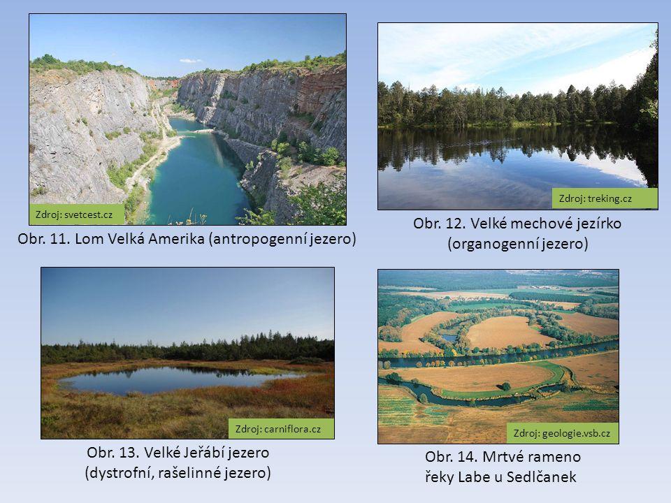 Zdroj: svetcest.cz Obr.11. Lom Velká Amerika (antropogenní jezero) Obr.
