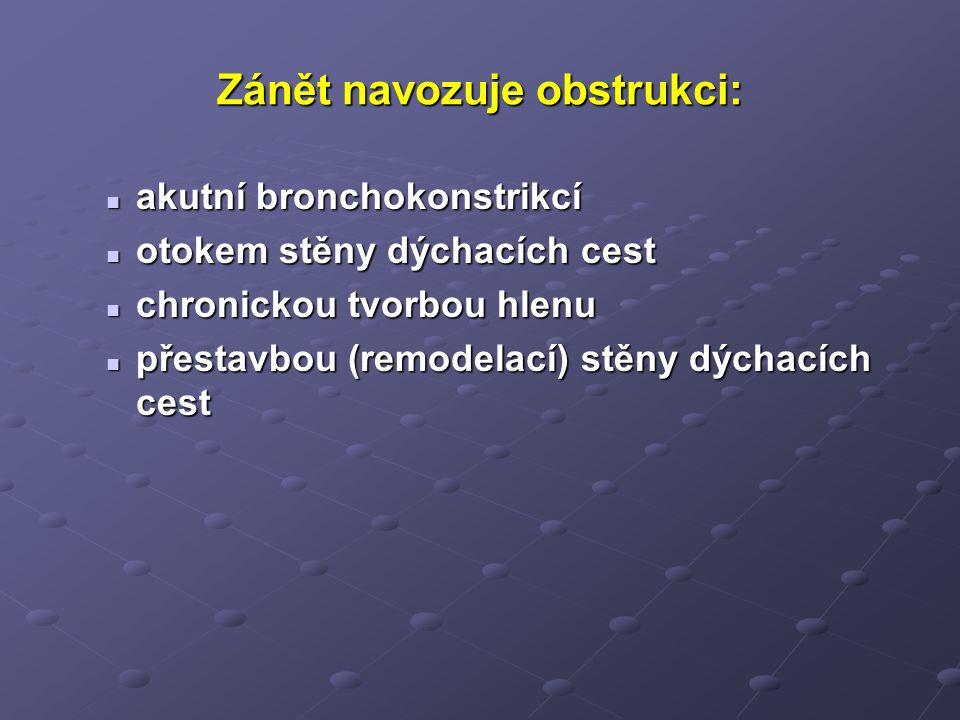 Metody vyšetření: Klinický obraz anamnéza, fyzikální vyšetření, inspekce, palpace, perkuse, auskultace anamnéza, fyzikální vyšetření, inspekce, palpace, perkuse, auskultace Spirometrie, bronchodilatační test a test reverzibility kortikosteroidem je-li FEV1 po bronchodilatačním léku < 80% n.h.