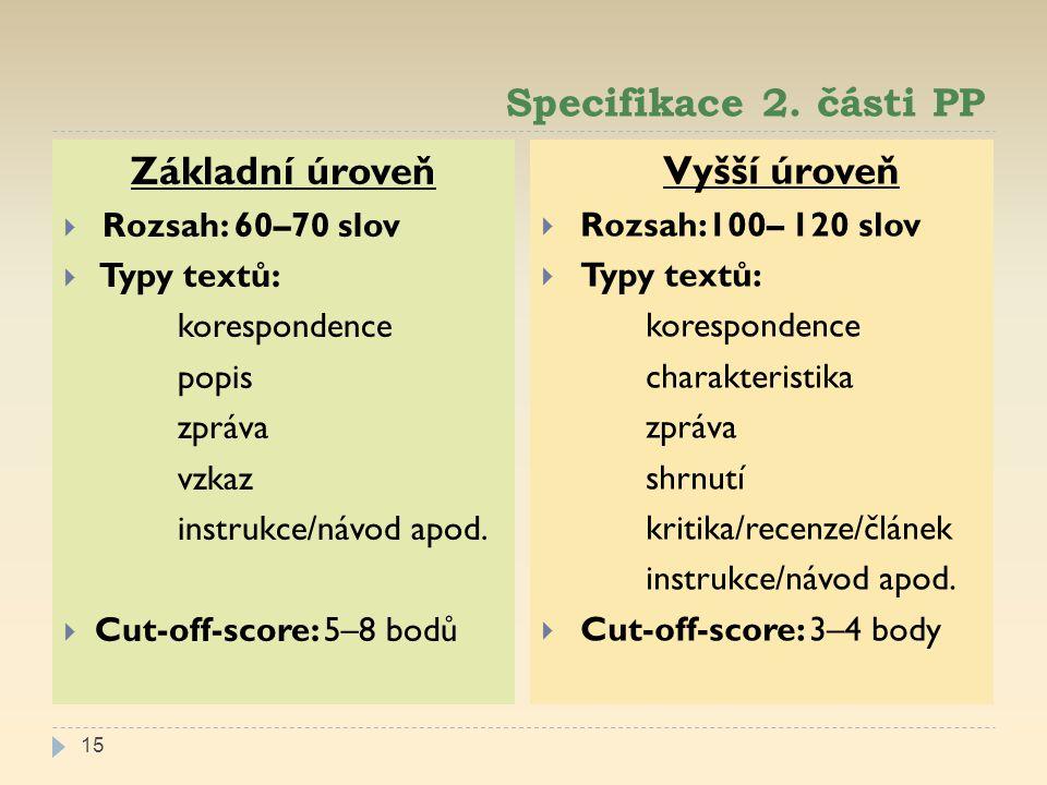 Specifikace 2.