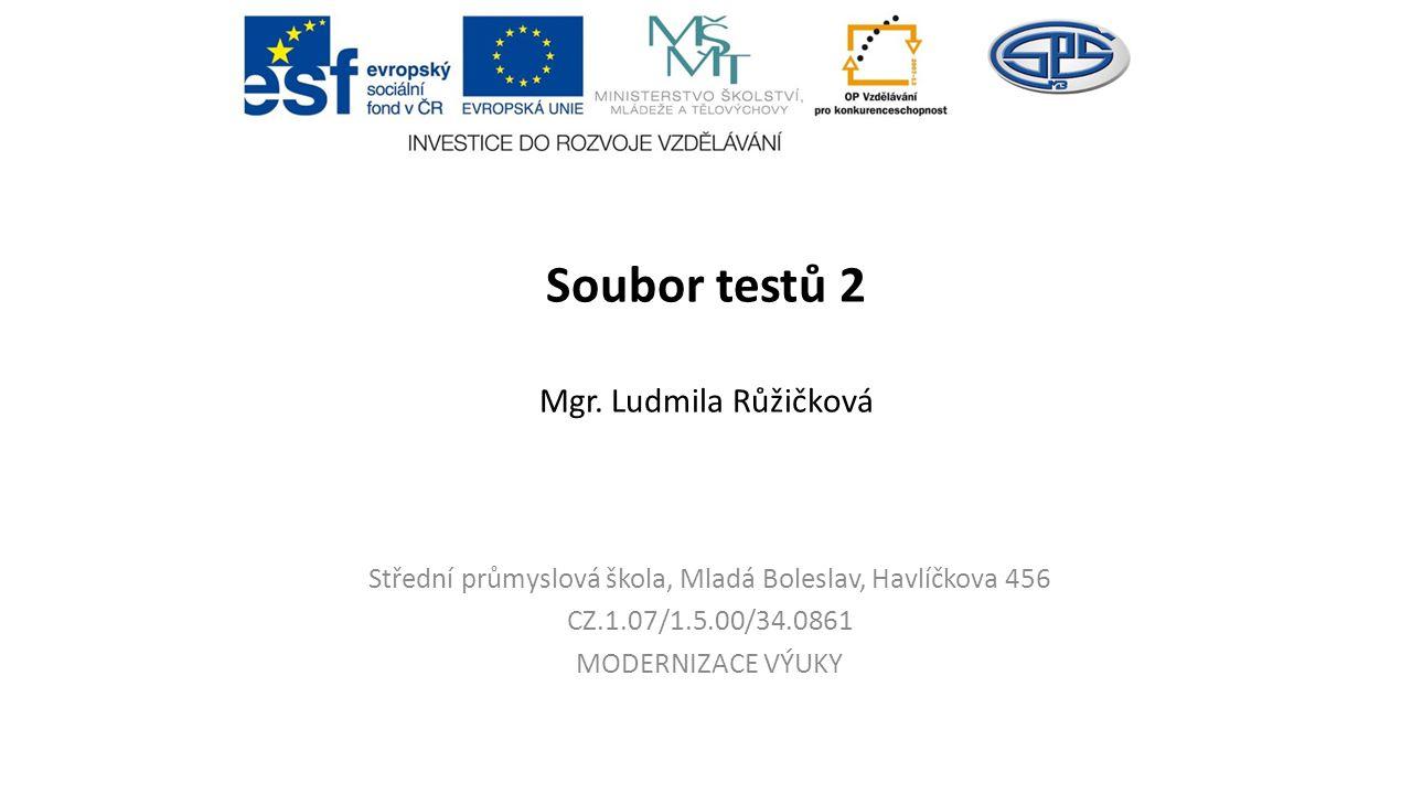 Soubor testů 2 Mgr.