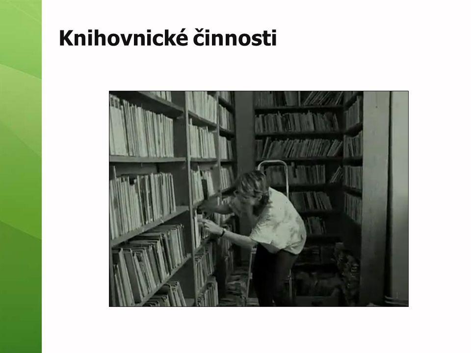 Knihovnické činnosti