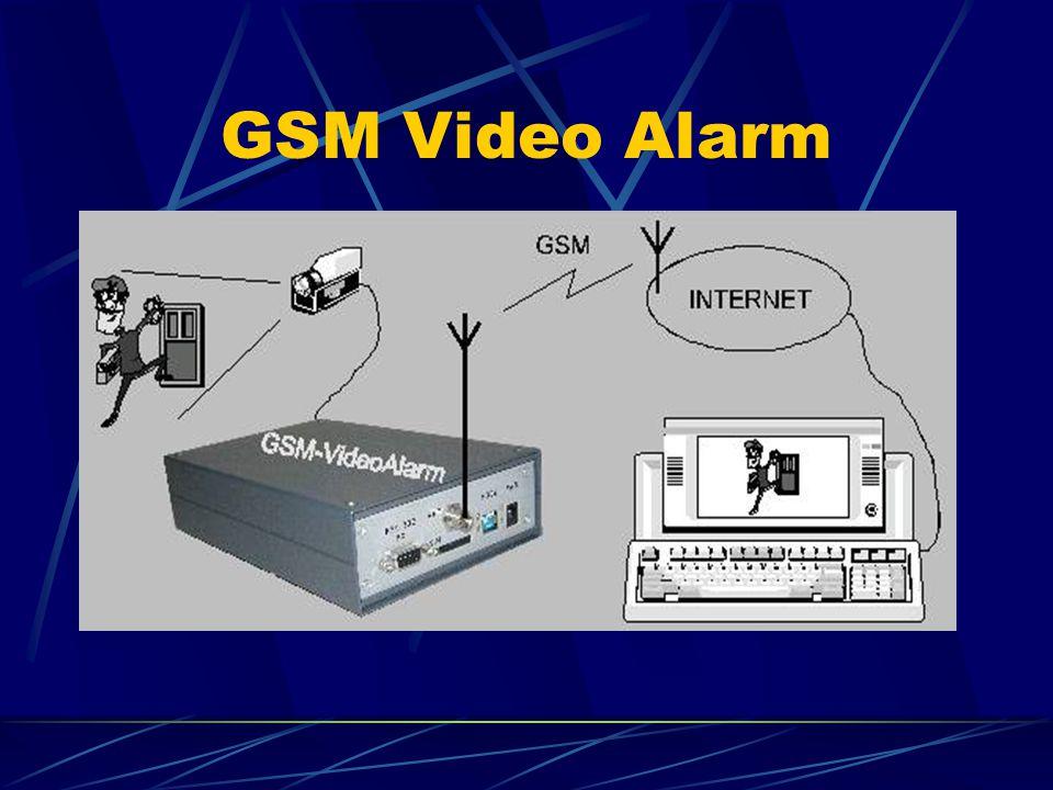 GSM Video Alarm Sejmout a odeslat snímek na SMS povel Vyvolat poplach a odeslat SMS zprávu na povel z čidla nebo EZS Sejmout a odeslat řadu po sobě jdoucích snímků