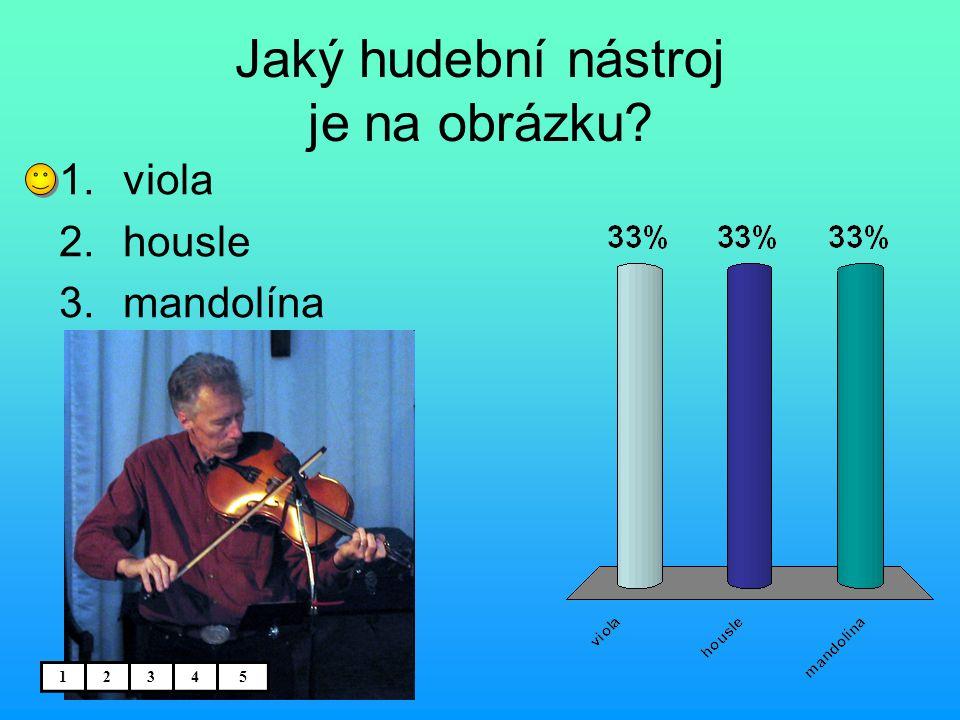 Jaký hudební nástroj je na obrázku? 1.viola 2.housle 3.mandolína 12345