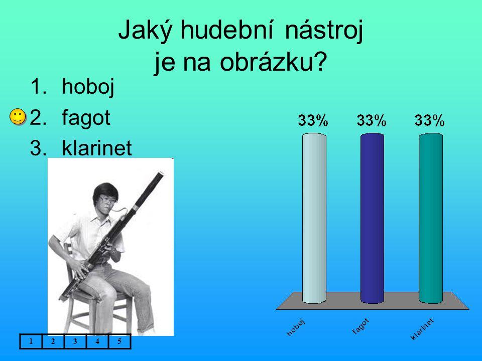 Jaký hudební nástroj je na obrázku? 1.hoboj 2.fagot 3.klarinet 12345