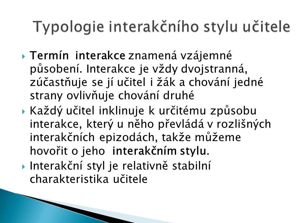  Termín interakce znamená vzájemné působení.