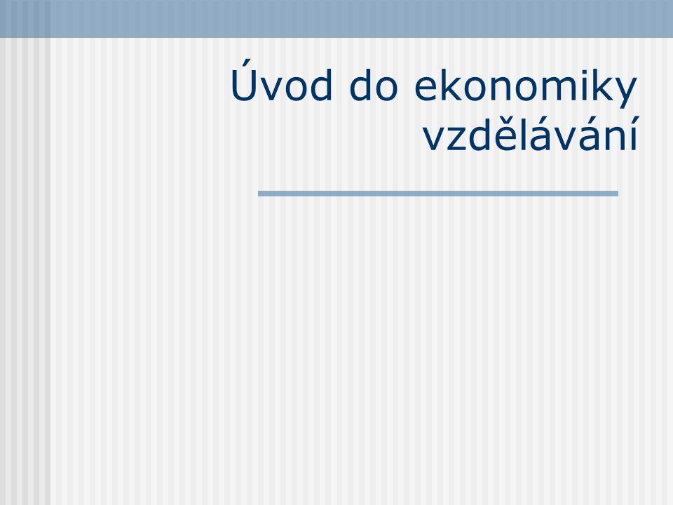 Úvod do ekonomiky vzdělávání