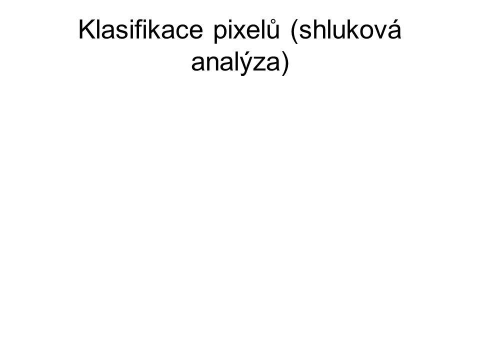Klasifikace pixelů (shluková analýza)