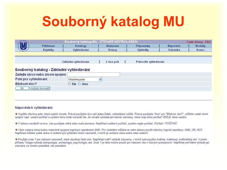 Souborný katalog MU