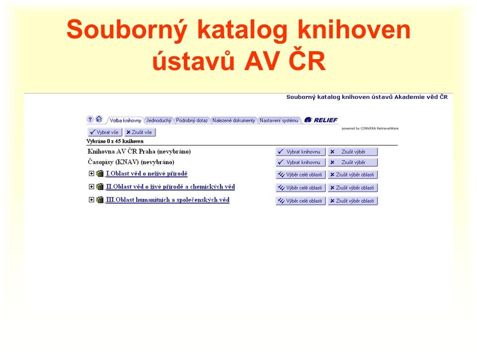 Souborný katalog knihoven ústavů AV ČR