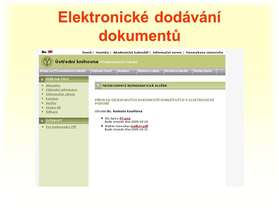 Elektronické dodávání dokumentů