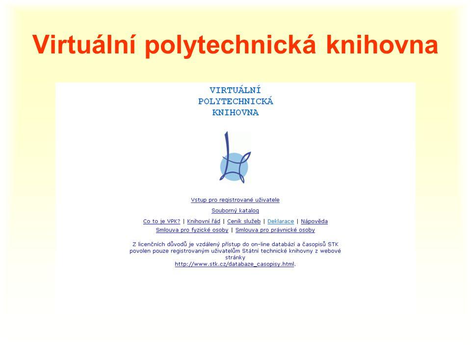 Virtuální polytechnická knihovna