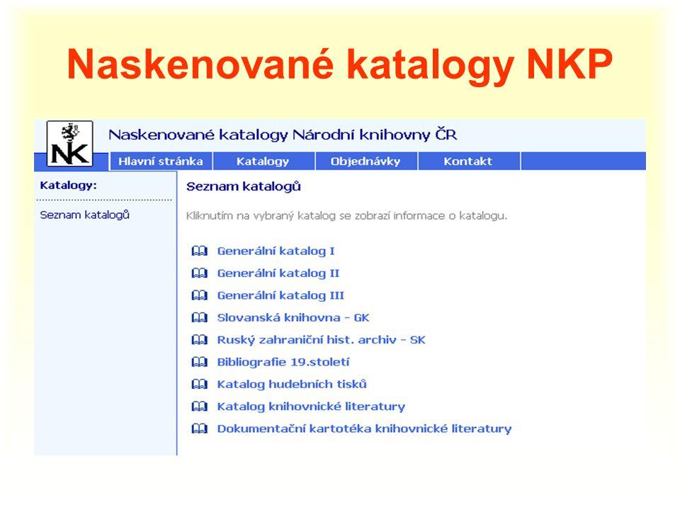 Naskenované katalogy NKP