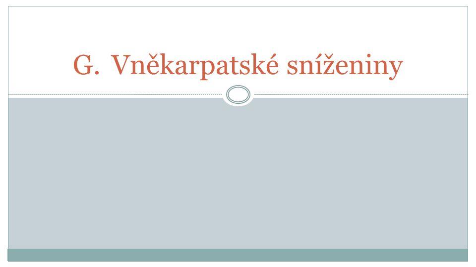 G.Vněkarpatské sníženiny