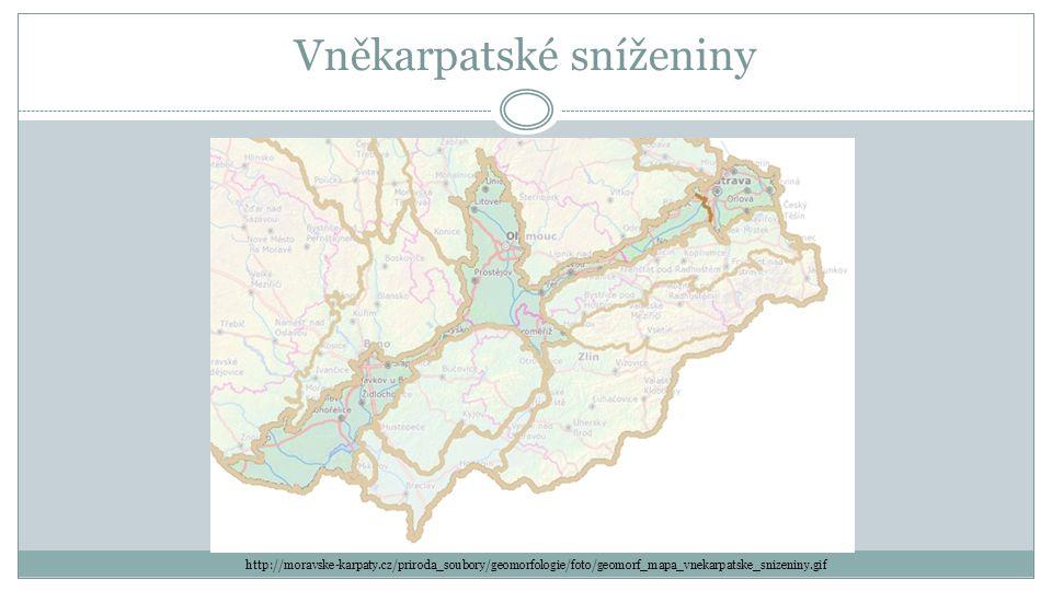 Vněkarpatské sníženiny http://moravske-karpaty.cz/priroda_soubory/geomorfologie/foto/geomorf_mapa_vnekarpatske_snizeniny.gif