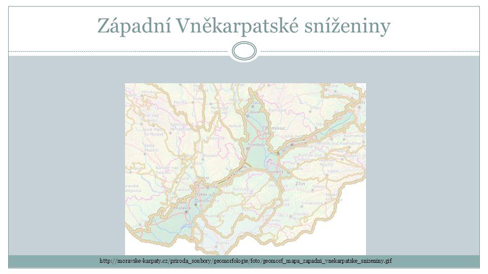 Západní Vněkarpatské sníženiny http://moravske-karpaty.cz/priroda_soubory/geomorfologie/foto/geomorf_mapa_zapadni_vnekarpatske_snizeniny.gif