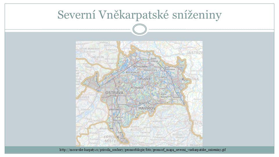Severní Vněkarpatské sníženiny http://moravske-karpaty.cz/priroda_soubory/geomorfologie/foto/geomorf_mapa_severni_vnekarpatske_snizeniny.gif