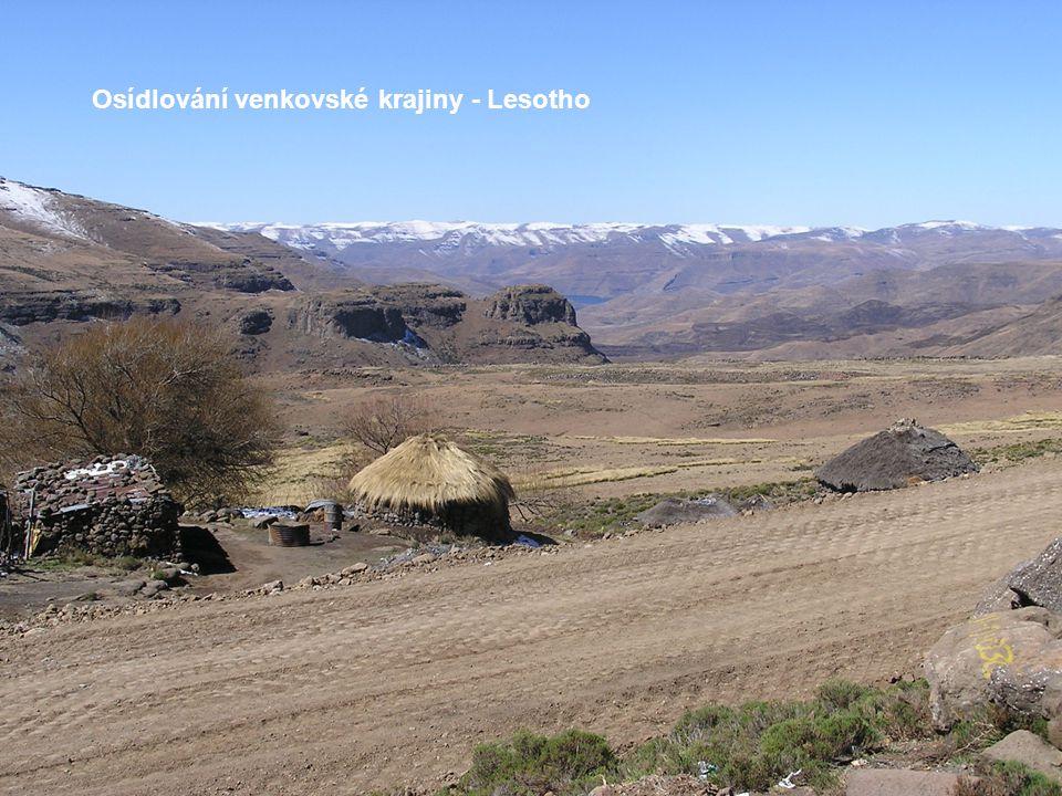 Osídlování venkovské krajiny - Lesotho