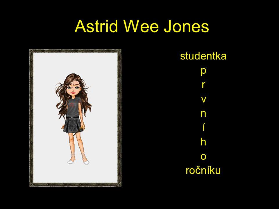 Astrid Wee Jones studentka p r v n í h o ročníku