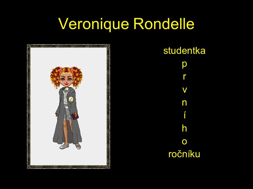 Veronique Rondelle studentka p r v n í h o ročníku