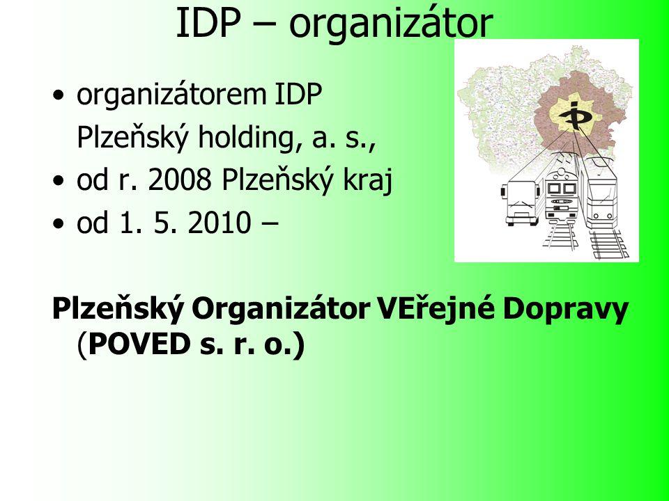 IDP – organizátor organizátorem IDP Plzeňský holding, a.