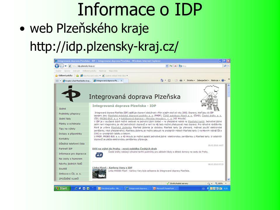 Informace o IDP web Plzeňského kraje http://idp.plzensky-kraj.cz/