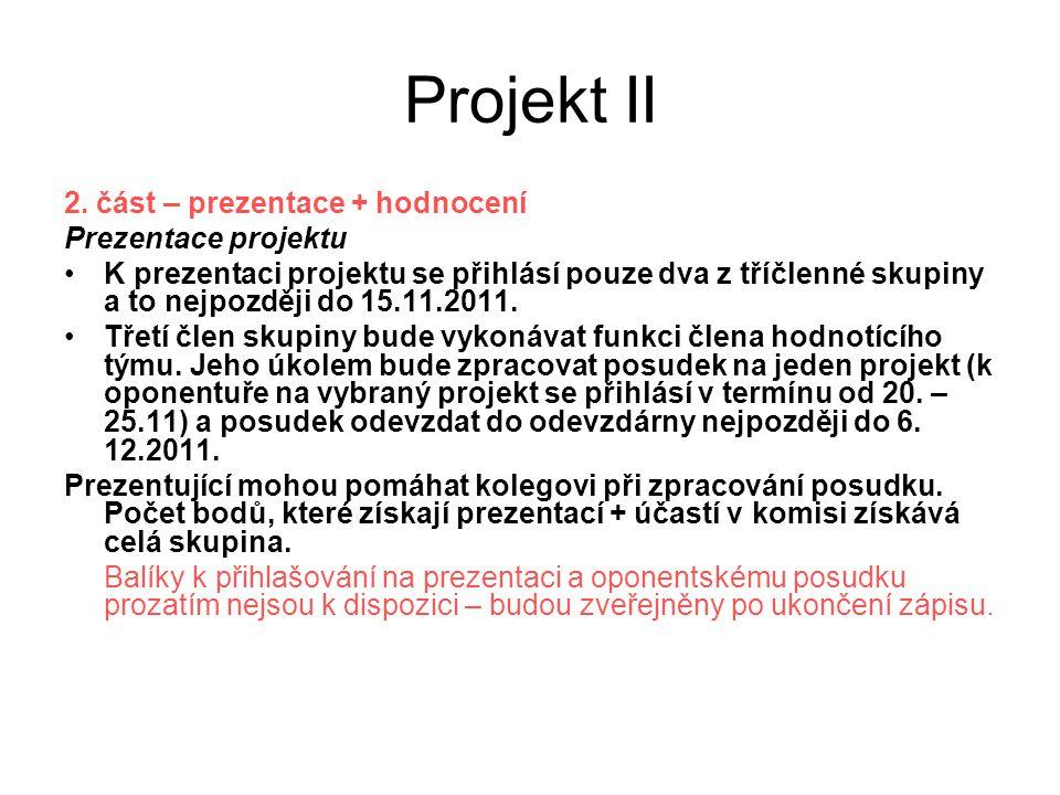 Projekt II 2.