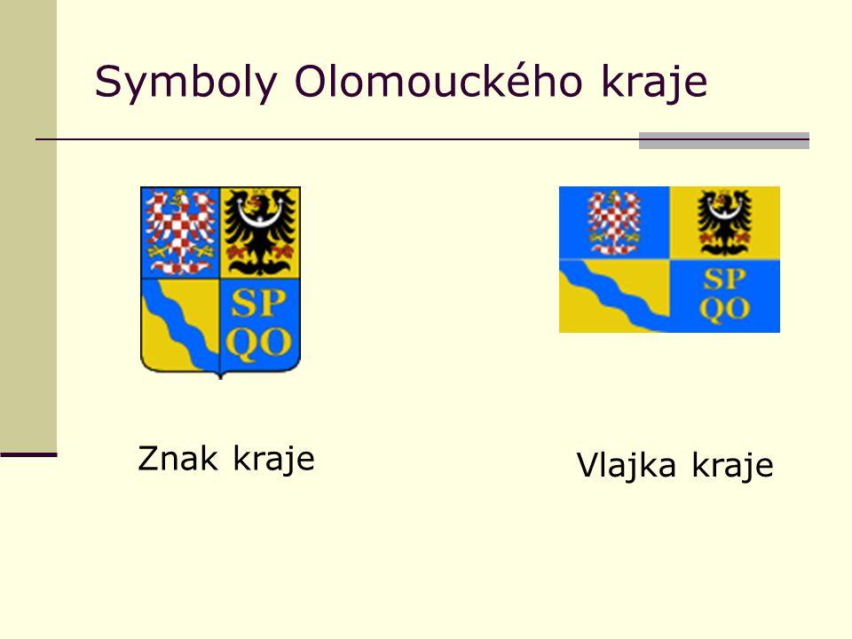 Symboly Olomouckého kraje Znak kraje Vlajka kraje