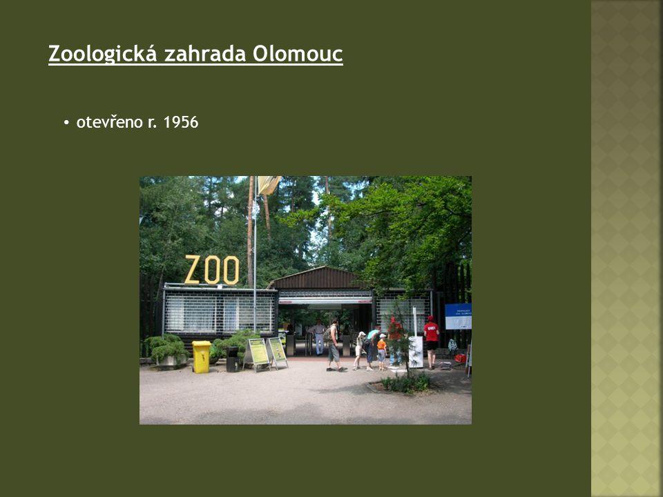 Zoologická zahrada Olomouc otevřeno r. 1956