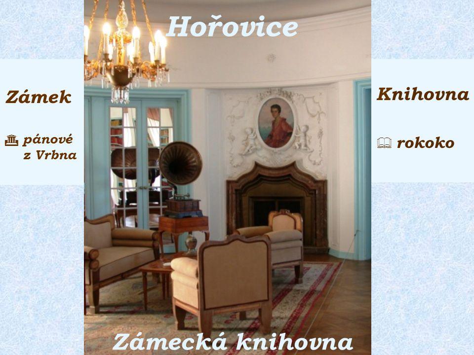 Zámek  pánové z Vrbna Knihovna  rokoko Zámecká knihovna Hořovice