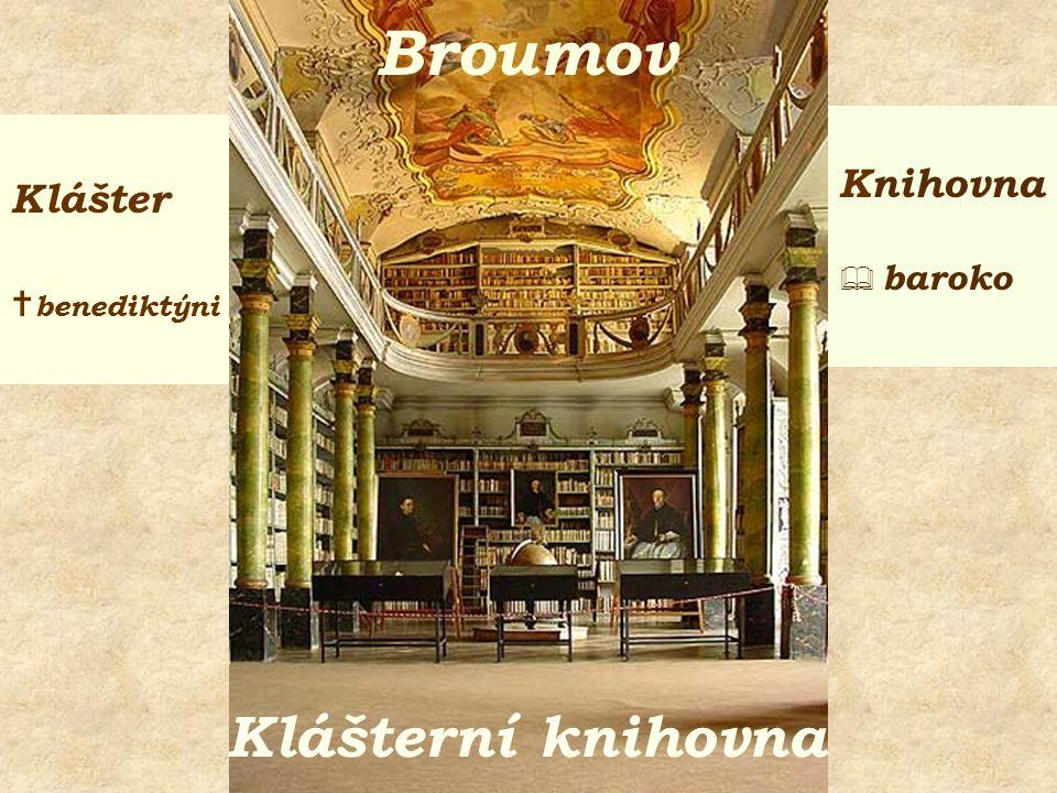 Klášter  cisterciáci Knihovna  baroko Osek Klášterní knihovna