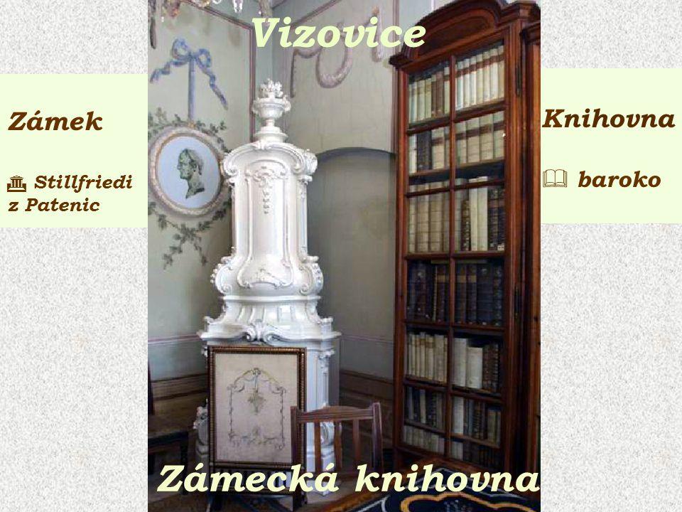 Zámek  Stillfriedi z Patenic Knihovna  baroko Vizovice Zámecká knihovna