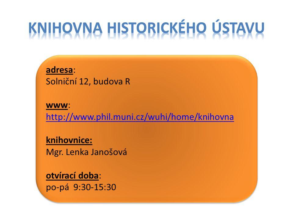 adresa: Královopolská 62 www: www.arub.cz/knihovna.html otvírací doba: po + st + pá 8:00-12:00 a 13:00-18:00 adresa: Královopolská 62 www: www.arub.cz/knihovna.html otvírací doba: po + st + pá 8:00-12:00 a 13:00-18:00