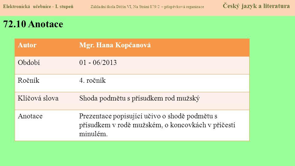 72.10 Anotace Elektronická učebnice - I.