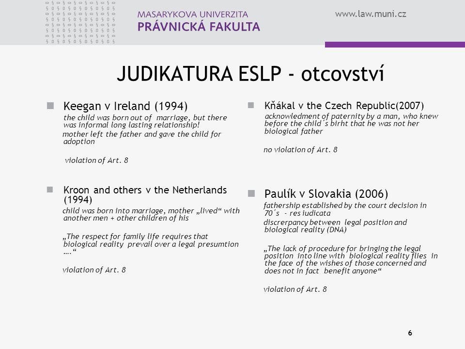 """www.law.muni.cz solidarita v manželském/partnerském majetkovém právu, v právu manželského/partnerského a rodinného bydlení a jde-li o výživné mezi manžely/partnery a rozvedenými manžely/partnery, rozlučitelnost jakékoli formy soužití dohodou jako komplexním a konečným řešením osobních i majetkových poměrů mezi partnery, kombinovaná s vhodně koncipovanou """"tvrdostní klauzulí, ústup od rozvodu založeném na vině, mateřství založené na jednotě biologického aspektu a faktu porodu (s výjimkami stanovenými pro reprodukční medicínu), prosté konfliktu zájmů (např."""