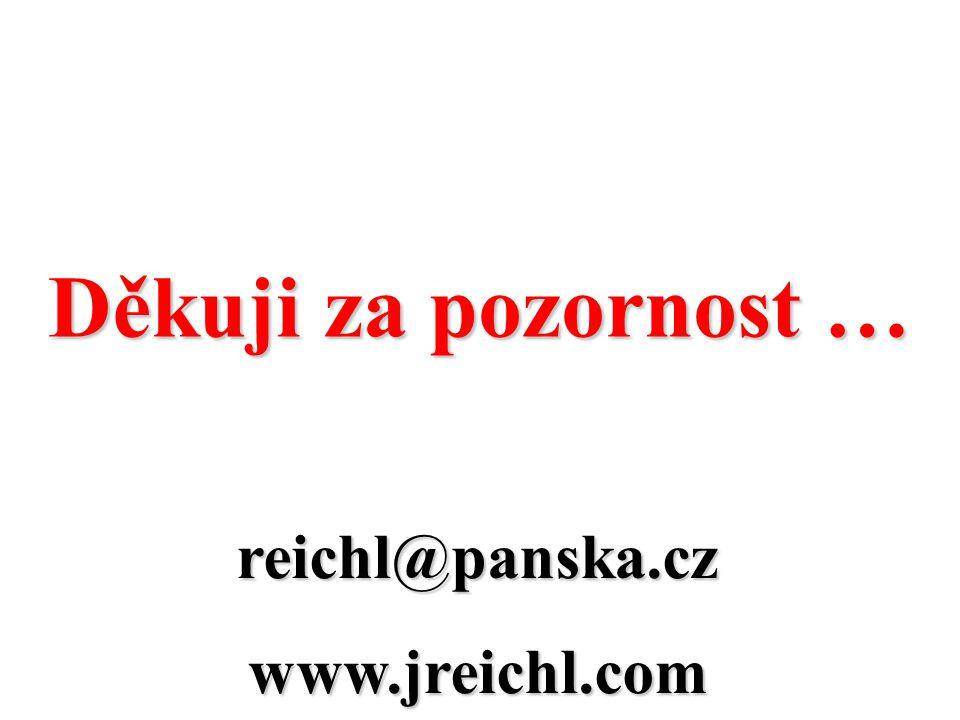 reichl@panska.czwww.jreichl.com Děkuji za pozornost …