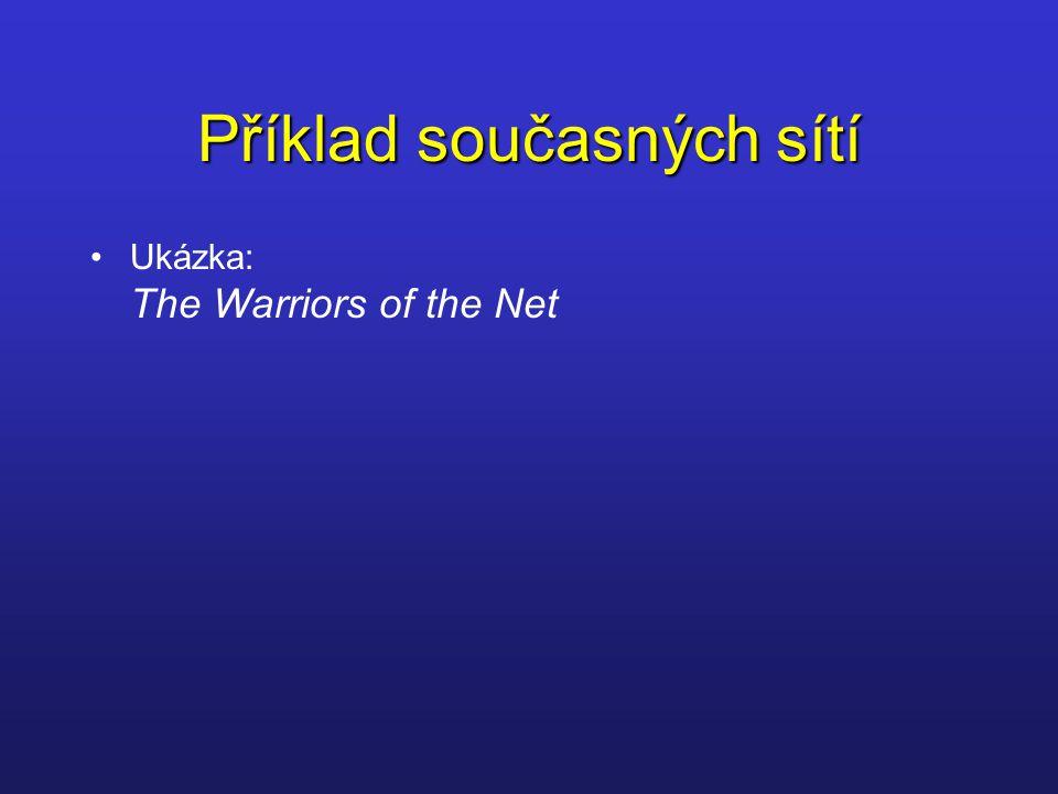 Příklad současných sítí Ukázka: The Warriors of the Net