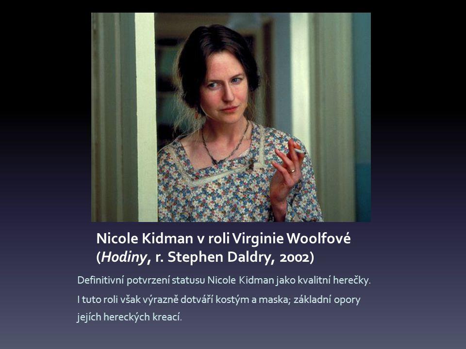Nicole Kidman v roli Virginie Woolfové (Hodiny, r.