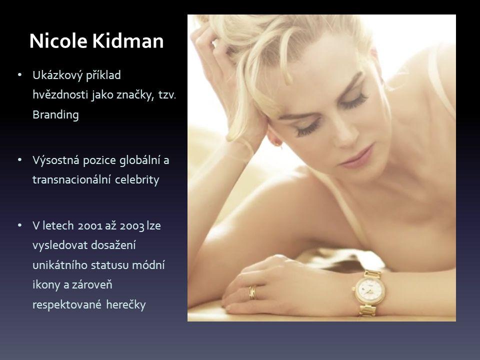 Nicole Kidman Ukázkový příklad hvězdnosti jako značky, tzv.