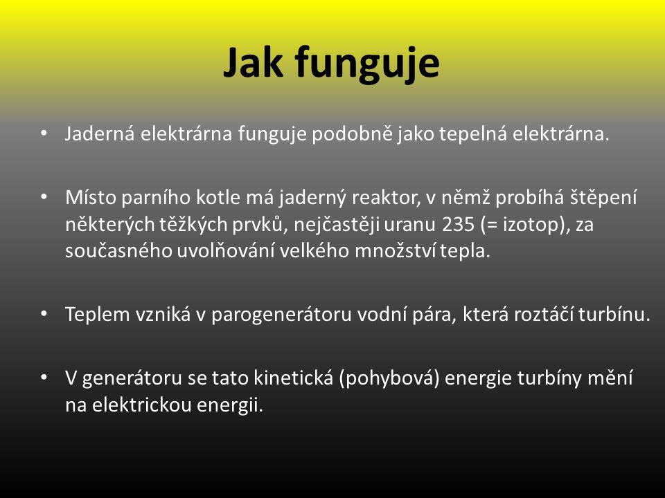 Animace Pro nejlepší pochopení principu jaderné elektrárny doporučuji použít následující animaci: http://www.cez.cz/cs/vyroba-elektriny/jaderna- energetika/interaktivni-model-je-jak-funguje-jaderka.html http://www.cez.cz/cs/vyroba-elektriny/jaderna- energetika/interaktivni-model-je-jak-funguje-jaderka.html Obr.