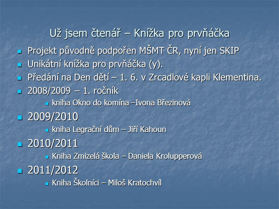 Už jsem čtenář – Knížka pro prvňáčka Projekt původně podpořen MŠMT ČR, nyní jen SKIP Projekt původně podpořen MŠMT ČR, nyní jen SKIP Unikátní knížka p